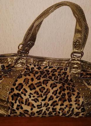 Красивая женская леопардовая сумка the bulaggi