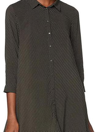 Opus-длинная блуза рубашка в горох! р.-42