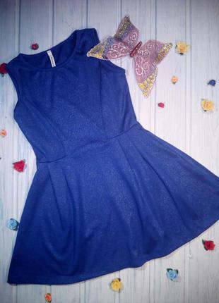 Нарядное трикотажное блестящее платье, 116- 122, belah&codey