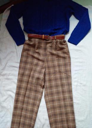Шерстяные брюки  с высокой талией