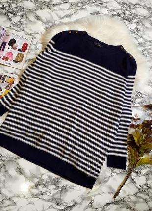 Стильный свитер в полоску размер 4хl-5xl