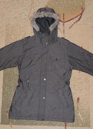 Фирменная зимняя (еврозима) куртка парка everest р.l/xl (евро 42)