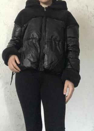 Осенняя куртка зефирка дутик плюшевая куртка плащ осіння куртка плюшева куртка плащ накидка