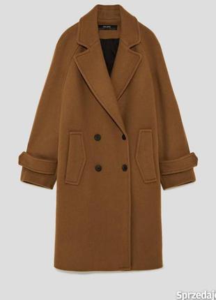 Шикарное шерстяное пальто zara
