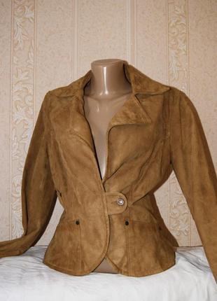 Стильная настоящая кожаная шкіряна замшевая куртка mango этно ретро бохо