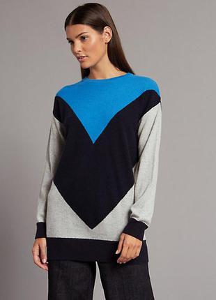 Кашемировий свитер колор блок