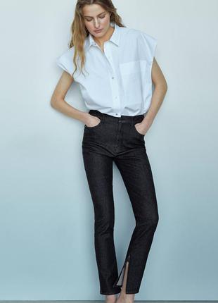 Новые брюки джинсы скинни  р 44 с молнией внизу от massimi dutti