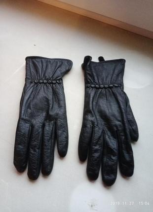 Мягенькие утепленные кожаные перчатки manpei  / размер 8