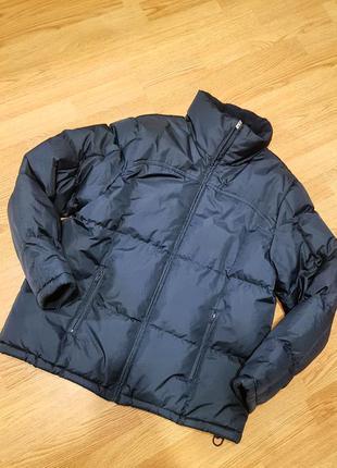 Теплая куртка унисекс identic темно- синяя