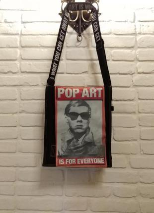 Pop art сумка-мессенджер, почтальон. andy warhol by pepe jeans.