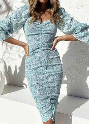 Распродажа платье prettylittlething миди со сборкой спереди c asos