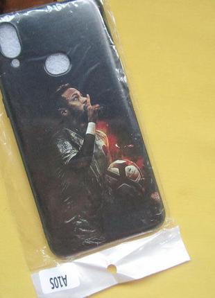 Новый черный с рисунком спортсменом чехол  на телефон samsung a10s