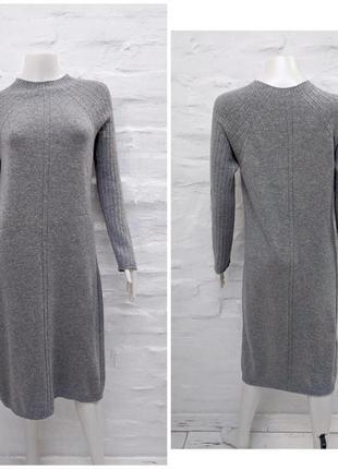 Stefanel italy уютное платье из мягкой меланжевой шерсти