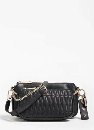 Черная сумка кроссбоди guess arie оригинал