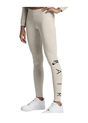 Спортивные лосины леггинсы nike womens air swoosh leggings oatmeal
