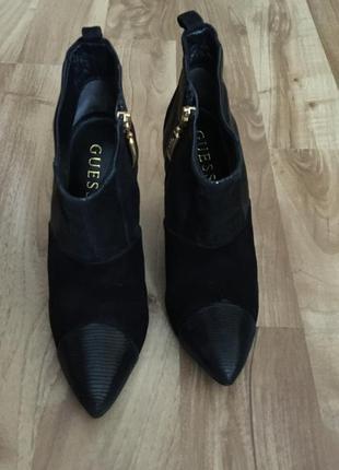 Кожаные ботинки guess