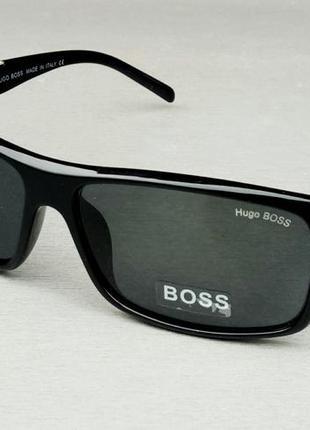 Hugo boss очки мужские солнцезащитные черные линзы стекло