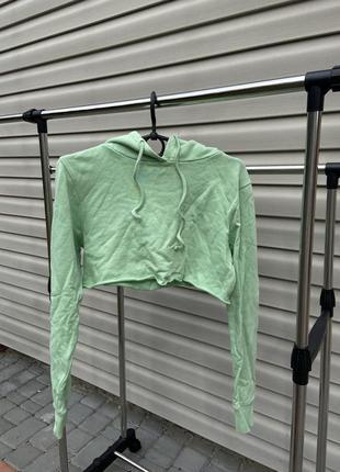 Укороченое худи толстовка свитшот свитер