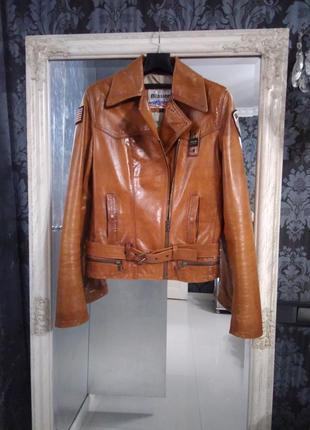 Blauer оригинал кожаная неповторимая куртка пилотка