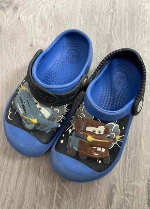 Кроксы crocs c 10 11 детские с тачками