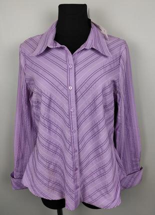 Блуза рубашка новая в винтажном стиле модная с длинными лацканами f&f uk 18/46/xxl