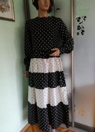 Винтажное шелковое платье nettie vogues