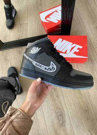 Кросівки nike air jordan 1 retro high black