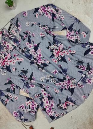 Блуза красивая цветочная модная большого размера george uk 24/52/5xl