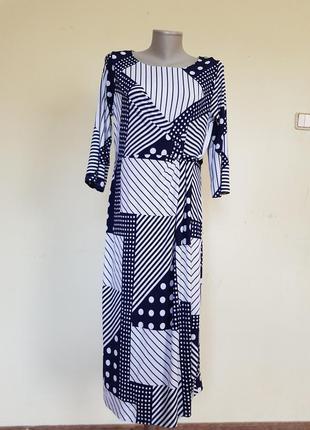 Очень красивое качественное трикотажное платье damart