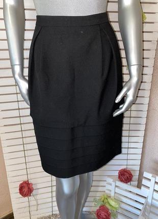 Чёрная миди юбка peserico