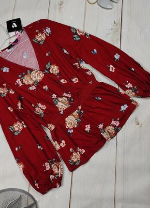 Блуза новая цветочная изысканная uk 10/38/s