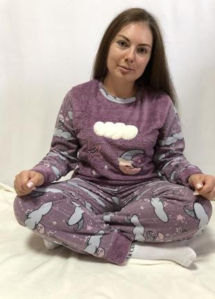 Тёплая флисовыя пижама со штанами