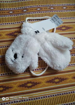 Рукавички білі плюшеві