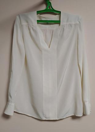 Белая шелковая блуза  100% шелк l.k,bennett