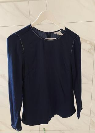 Темно синяя блуза h&m