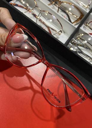 Женская оправа для очков красные кошечки