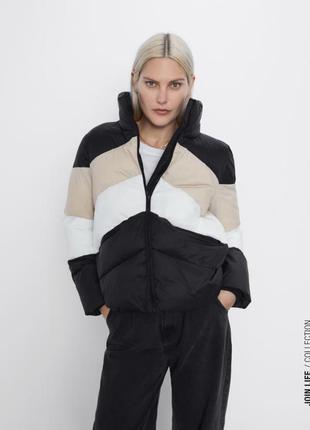 Стильная зимняя куртка/пуффер zara