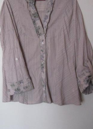 Распродажа рубашек блуз 50-120 грн!!! серая с цветочной планкой