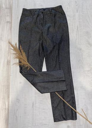 Серые шерстяные брюки штаны cambio