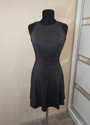 Шикарное люриксовое блестящее платье 🌟🖤
