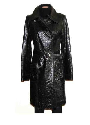 Пальто плащ 100% кожа бренда udekasi (юдикейсай) s
