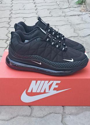 Подростковые термо кроссовки nike air max 720 черные, демисезонные