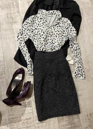 Новая тёплая юбка в стиле шанель//юбка тепла
