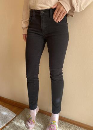 Чёрные джинсы skinny gap