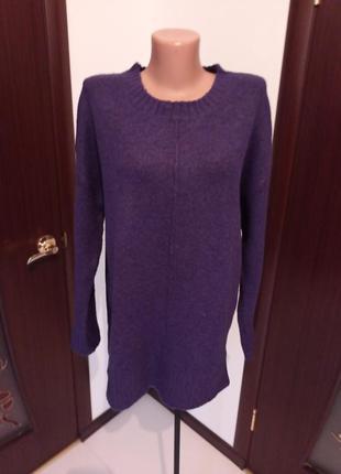 Теплый фиолетовый свитер 12-14рр