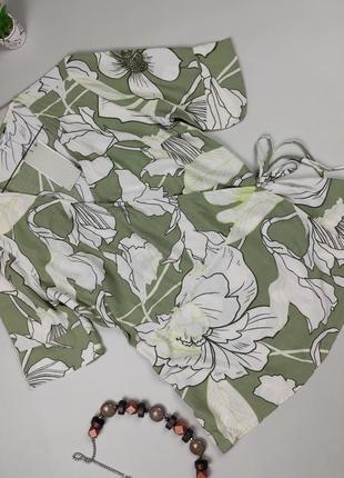 Блуза новая натуральная в цветочный принт next uk 10/38/s