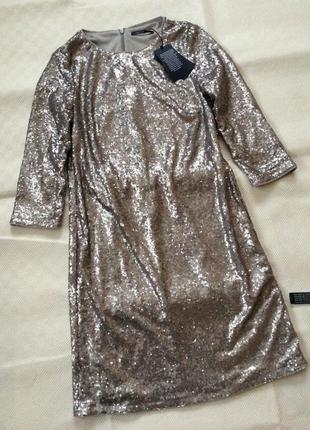 Трендрвое платье в паетке