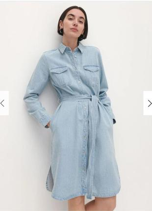 Сукня сорочка джинсова з кишенями