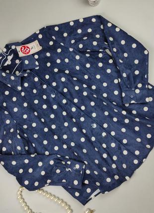 Блуза рубашка новая крутая в горошек tu uk 16/44/xl