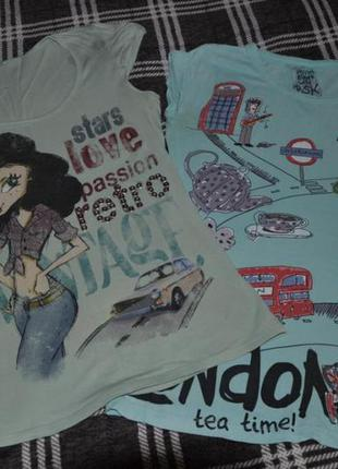 Две женские футболки bershka р.s